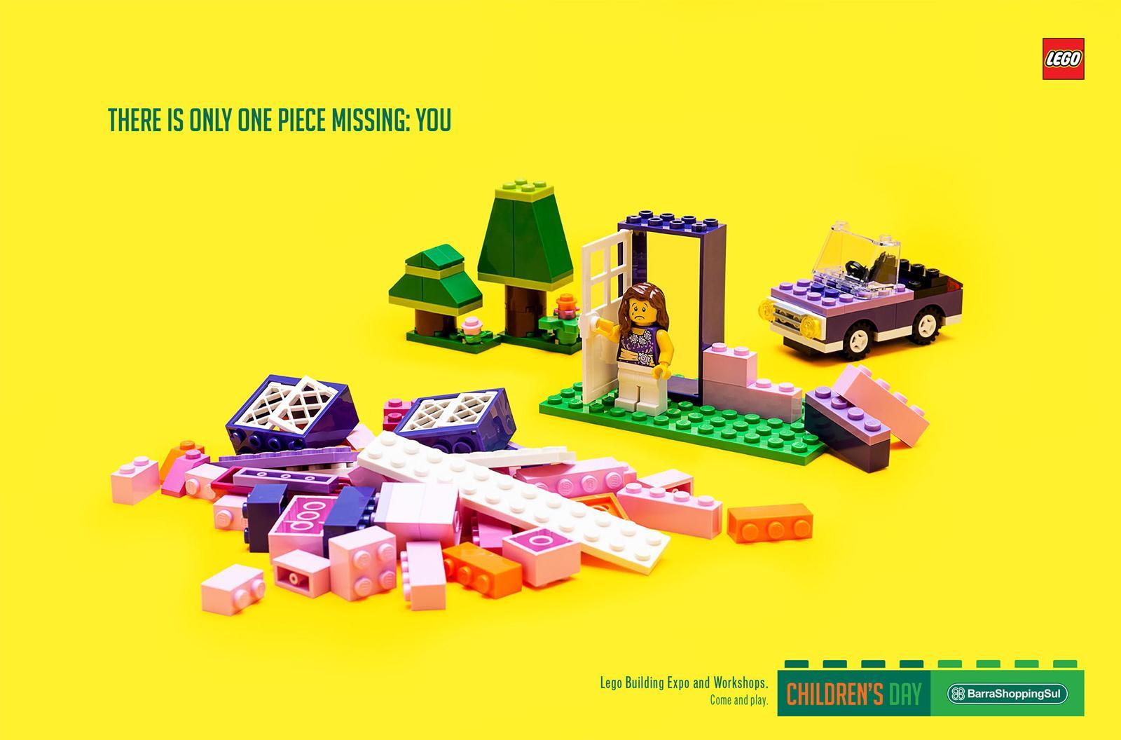 BarraShoppingSul Print Ad -  One piece missing, Girl
