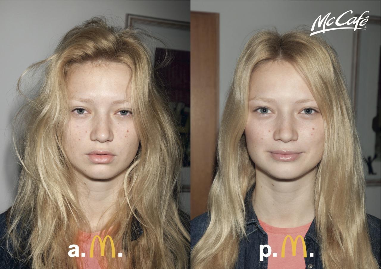 McDonald's Print Ad -  AM–PM, Girl 1