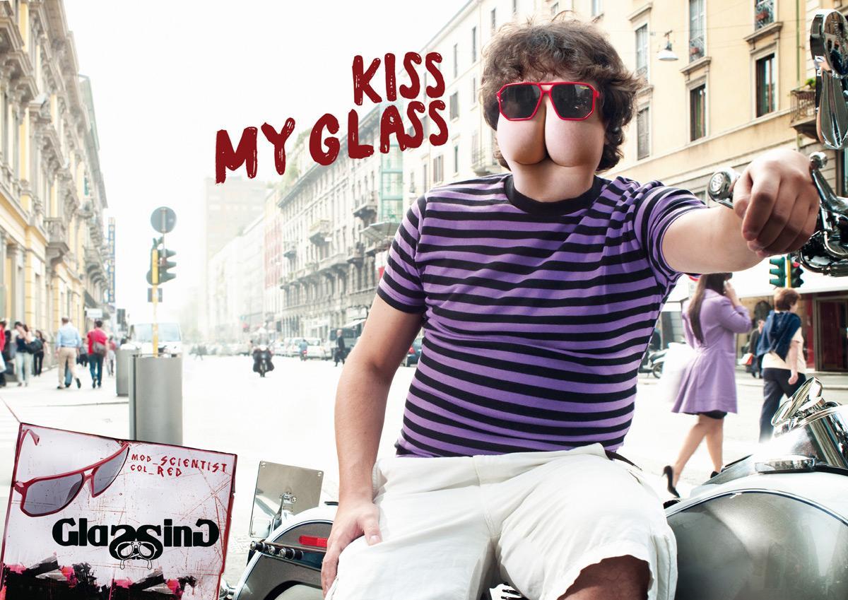 Glassing Print Ad -  Kiss my glass, 1