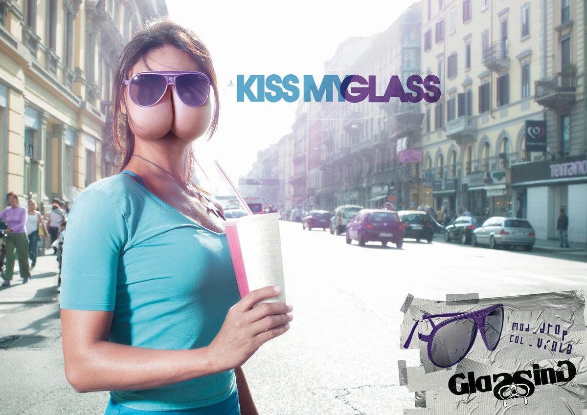 Glassing Print Ad -  Kiss my glass, 2
