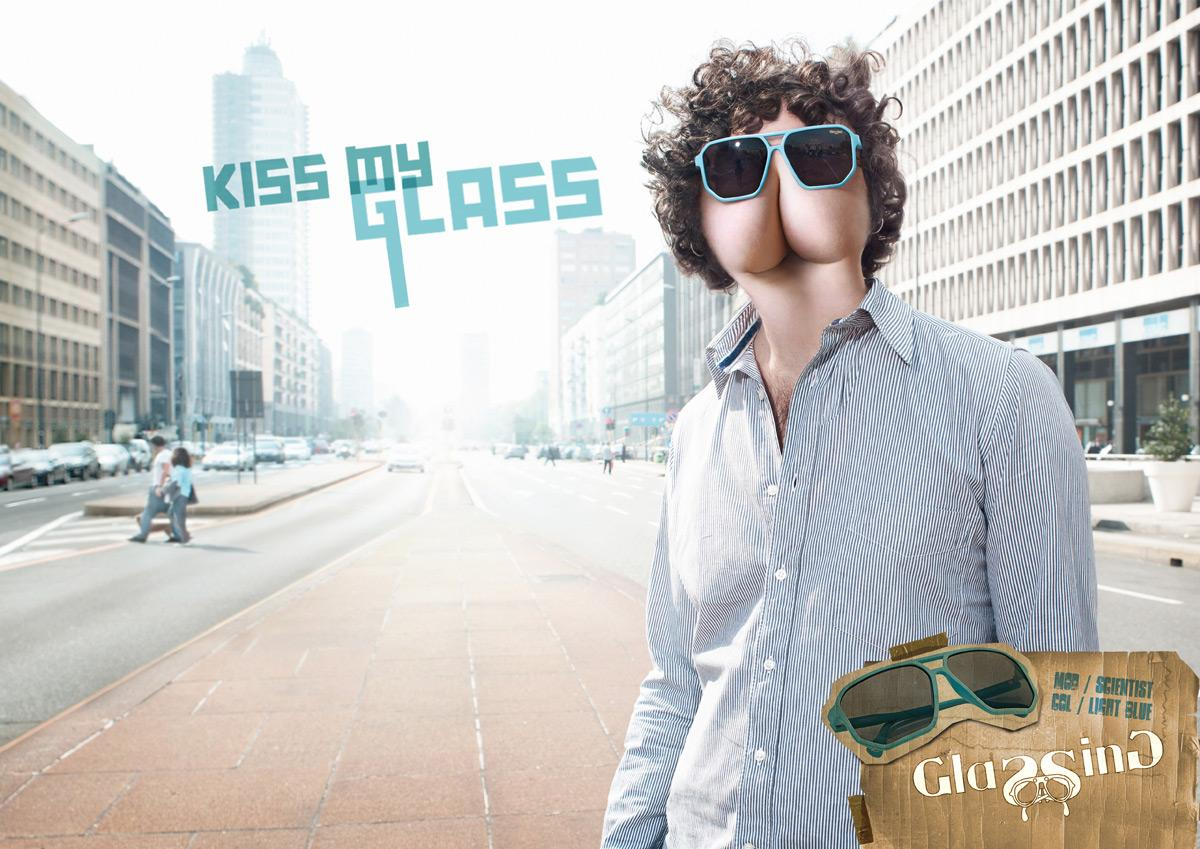 Glassing Print Ad -  Kiss my glass, 3