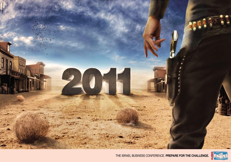 Globes Print Ad -  Wild West