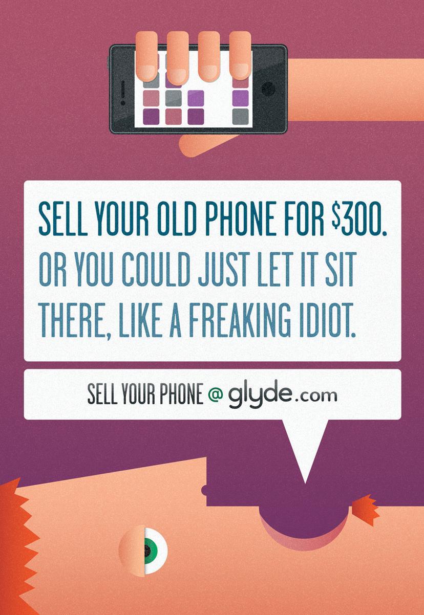 Glyde.com Print Ad -  Idiot