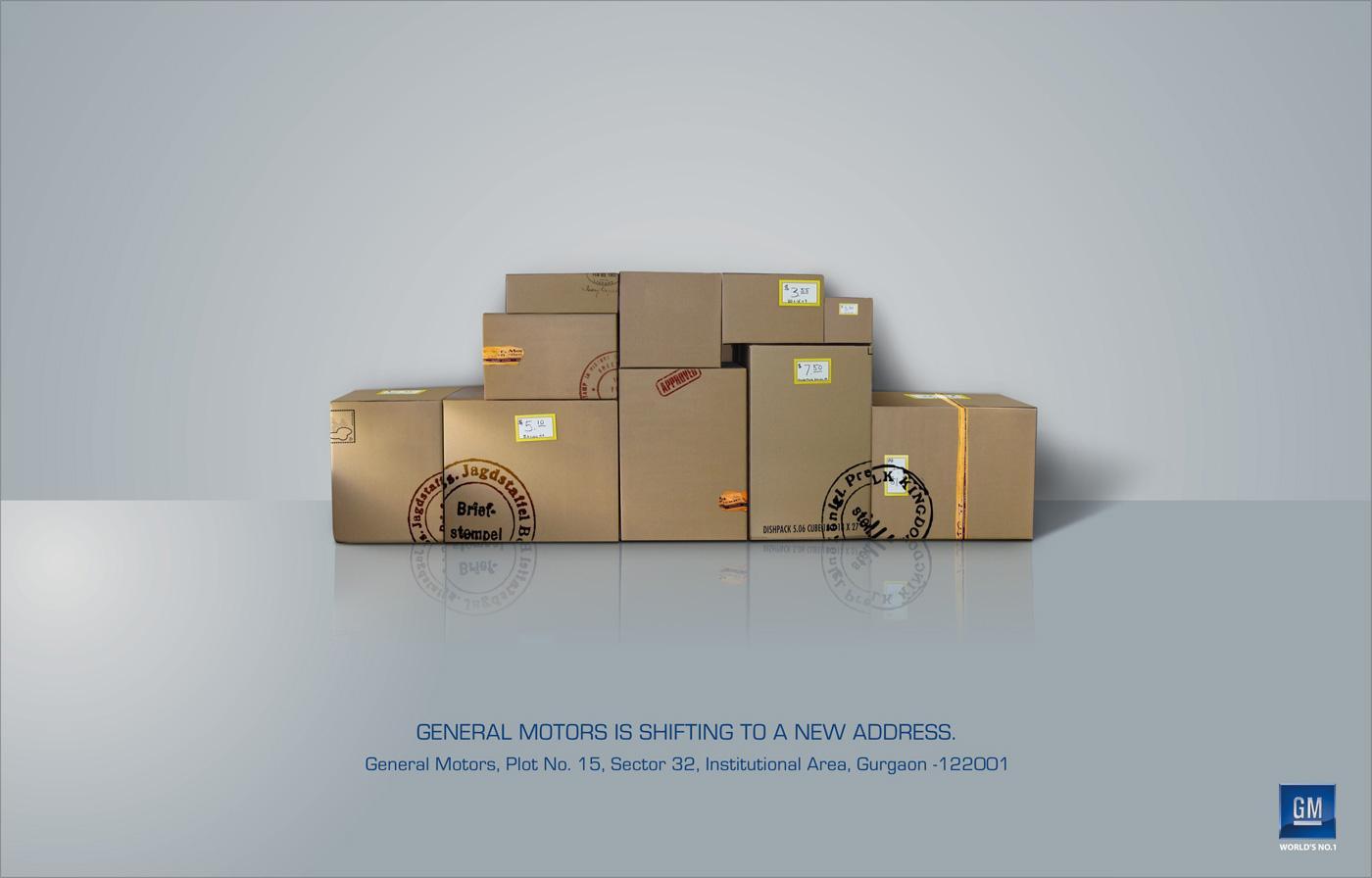 General Motors Print Ad -  Boxes
