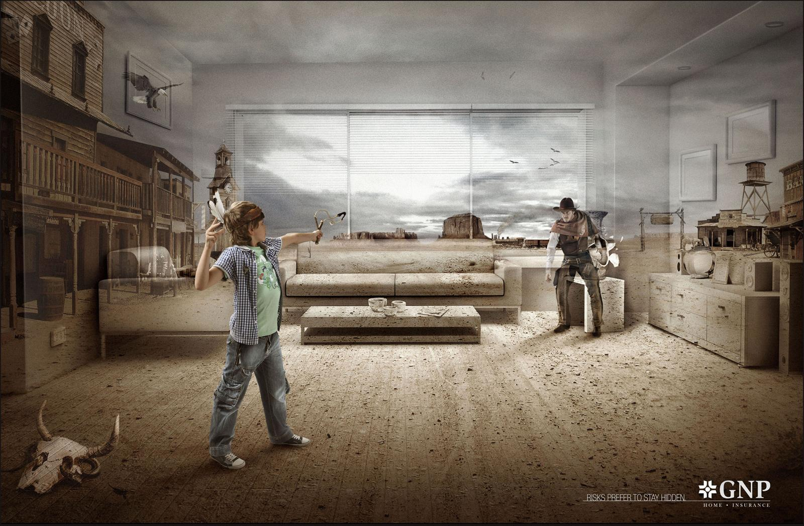 GNP Print Ad -  Cowboy