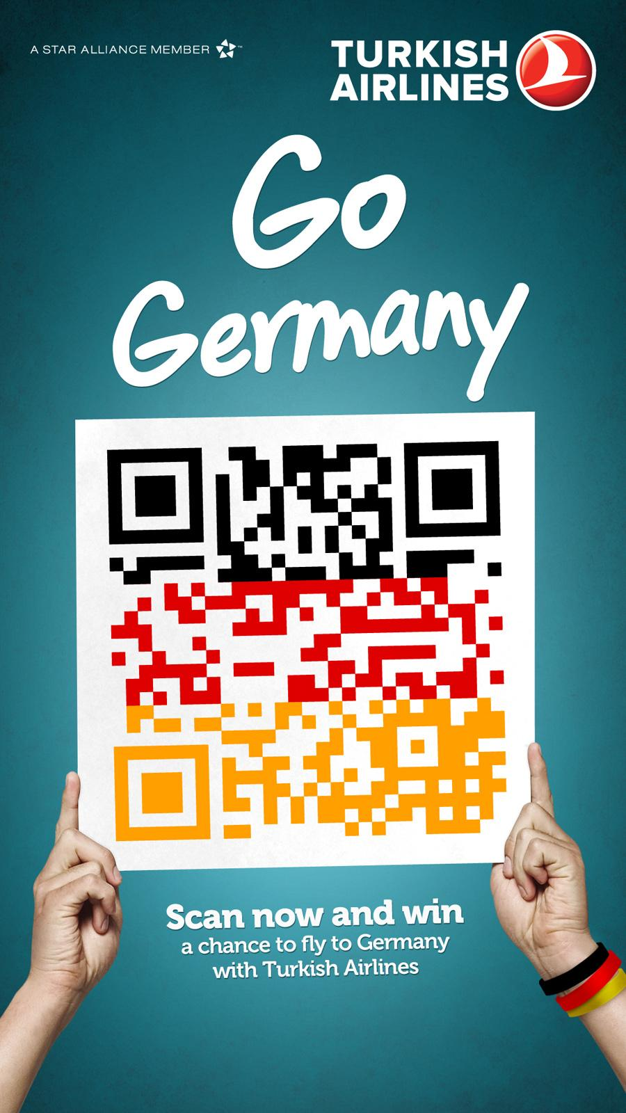 Turkish Airlines Outdoor Ad -  QR Flags, Germany