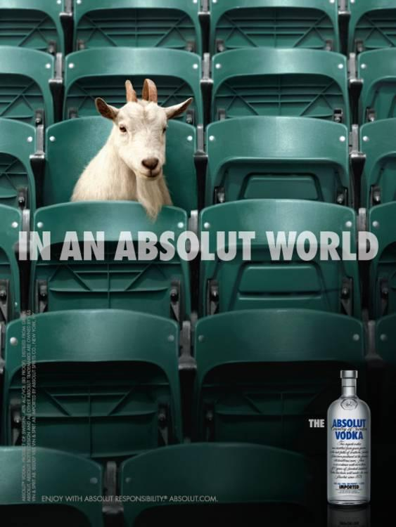 Absolut Print Ad -  Goat