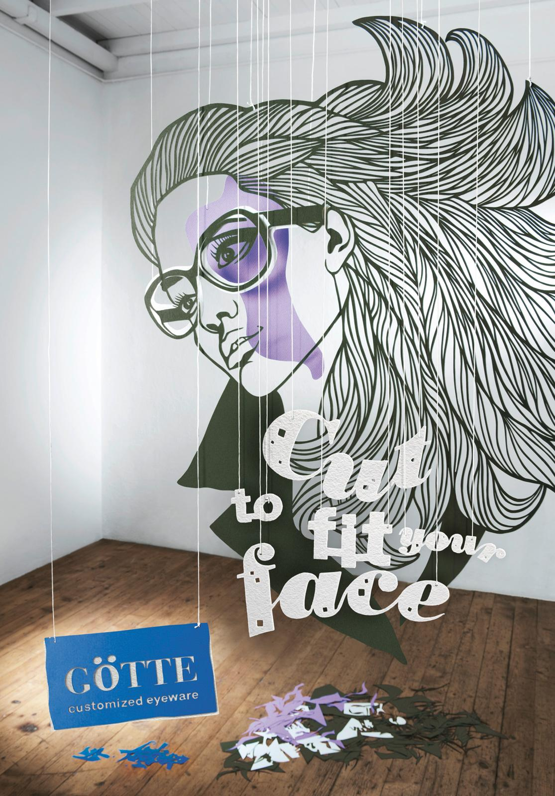 Goette Optician Print Ad -  Beehive Lady