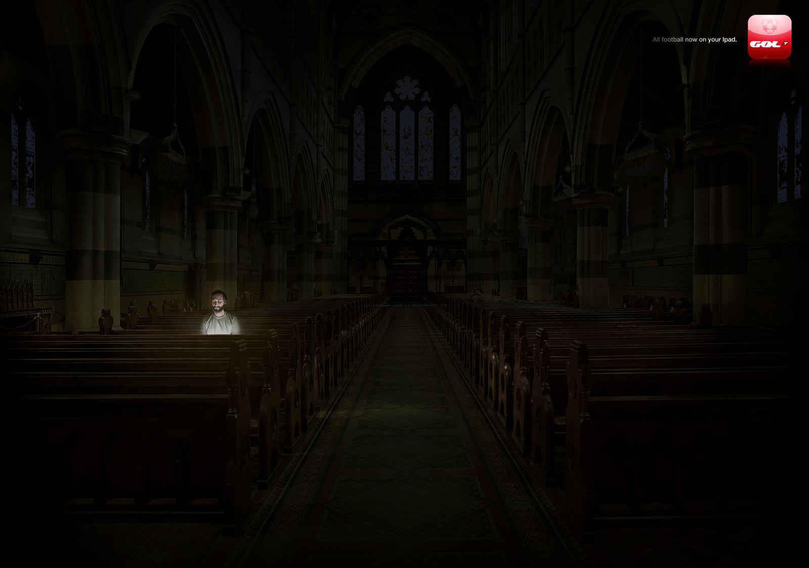 Gol Televisión Print Ad -  Church