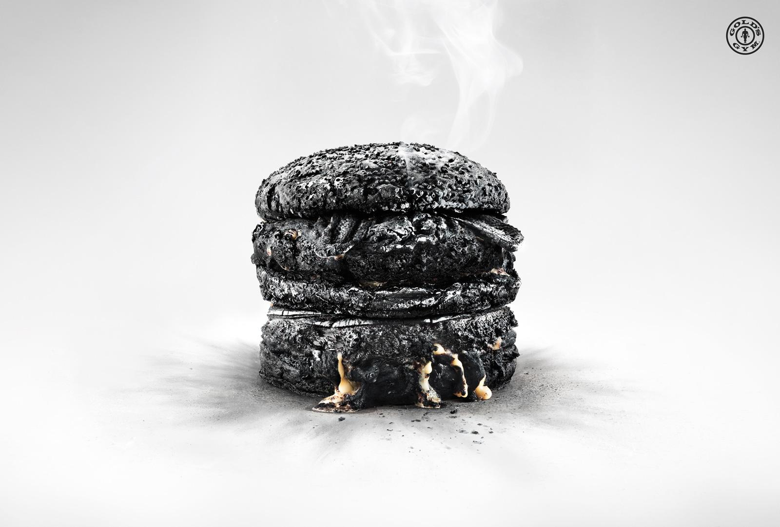 Gold's Gym Print Ad -  Burger