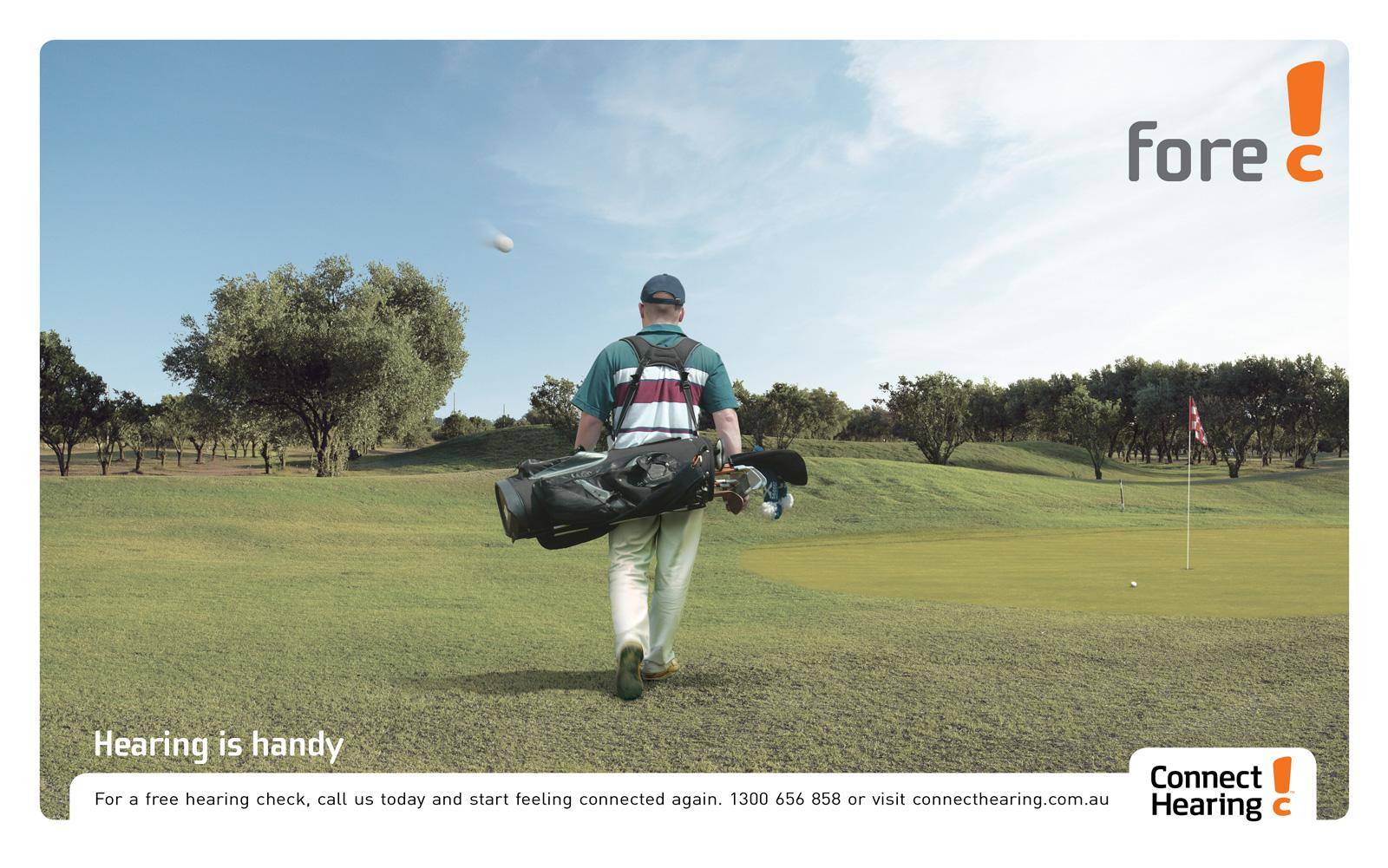 Connect Hearing Print Ad -  Golf