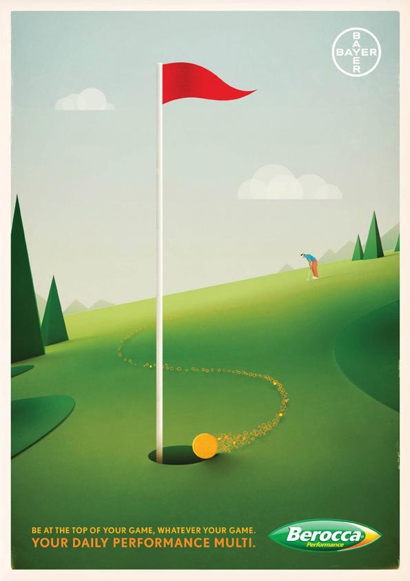 Berocca Print Ad -  Golf