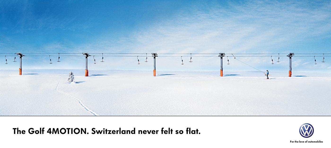 Volkswagen Print Ad -  Snow