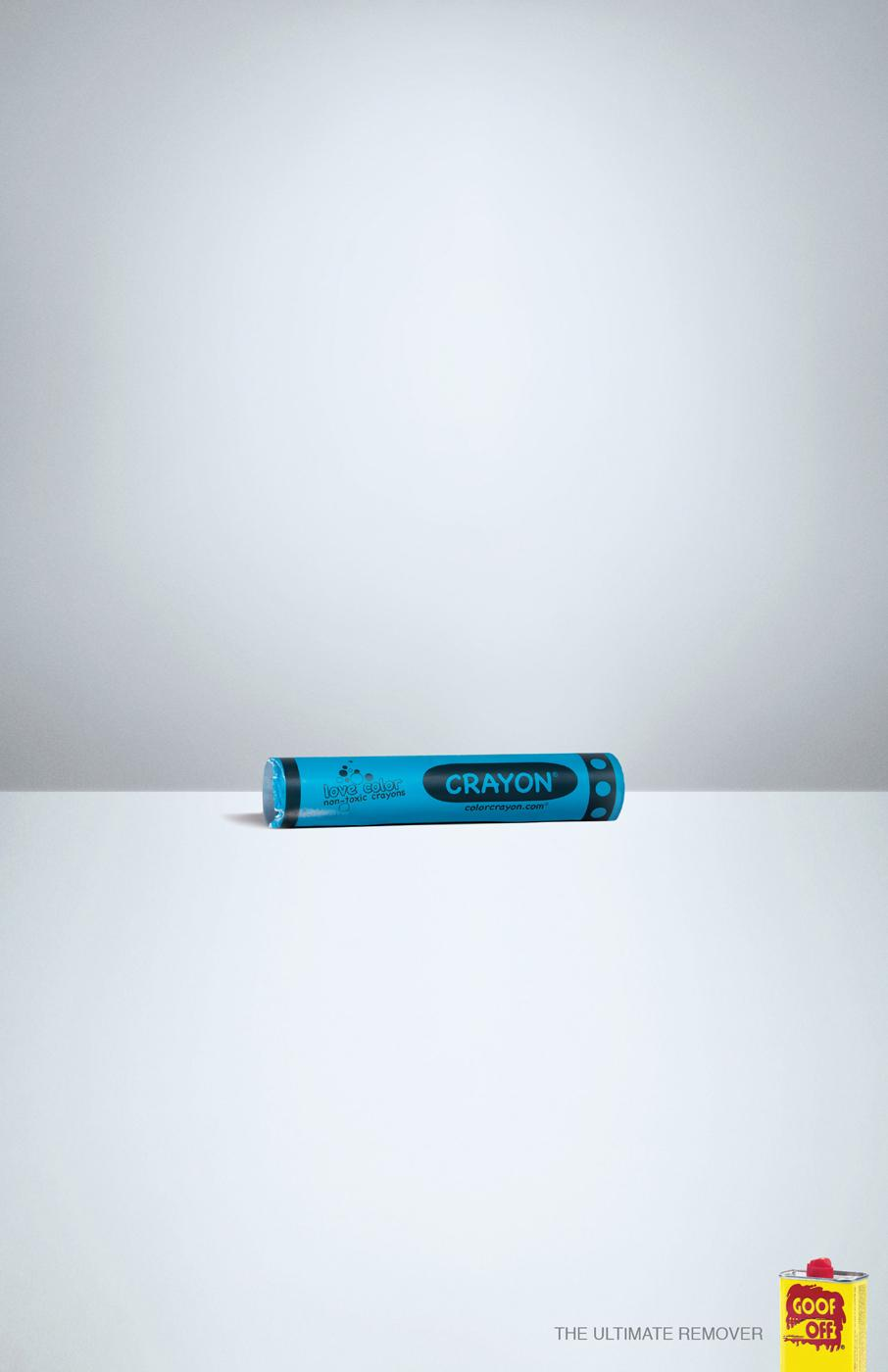 Goof Off Print Ad -  Crayon