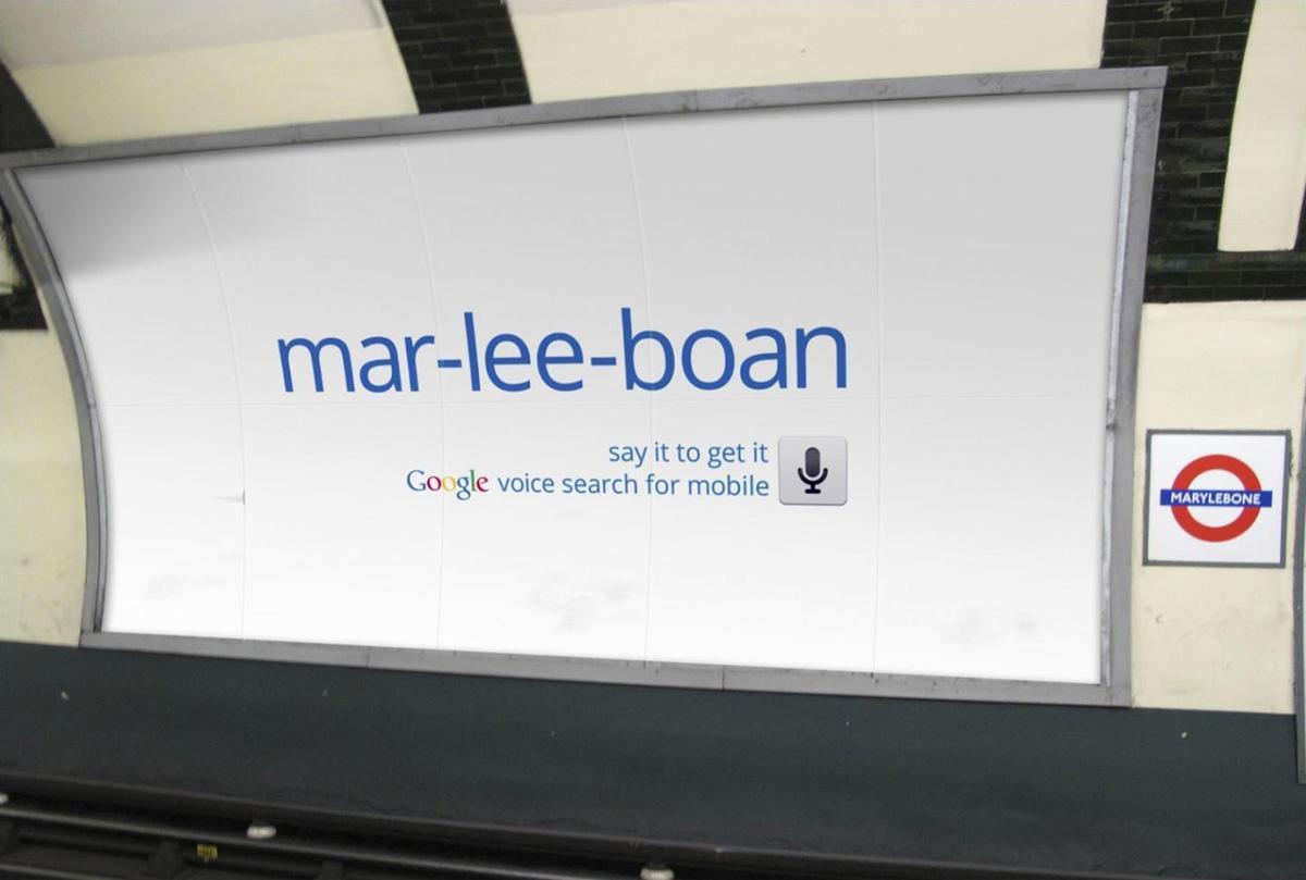 Google Outdoor Ad -  Marylebone