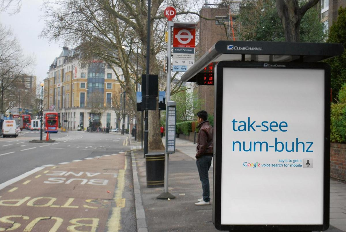 Google Outdoor Ad -  Taxi numbers