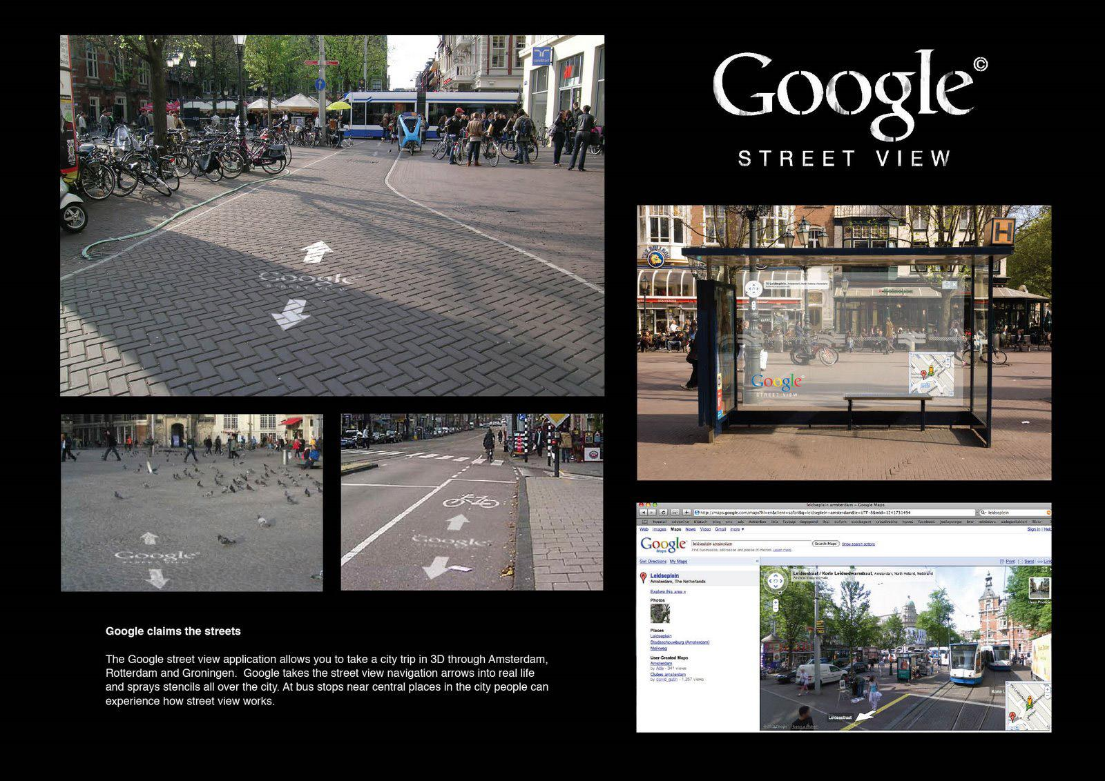 Google Outdoor Ad -  Google claims the streets