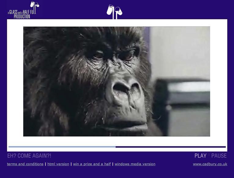 Cadbury Digital Ad -  Gorilla