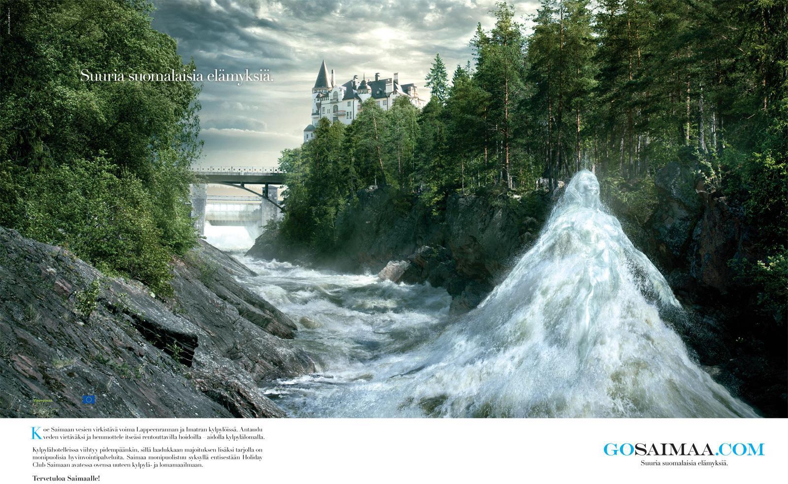 GoSaimaa.com Print Ad -  Great Finnish Experiences, 2