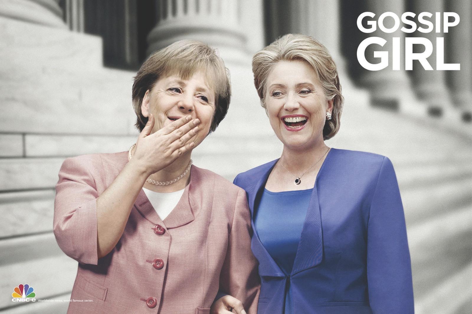 CNBC Print Ad -  News & Series, Gossip Girl