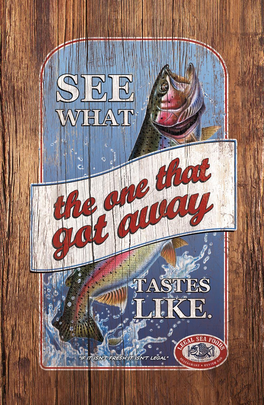 Legal Sea Foods Print Ad -  Got away
