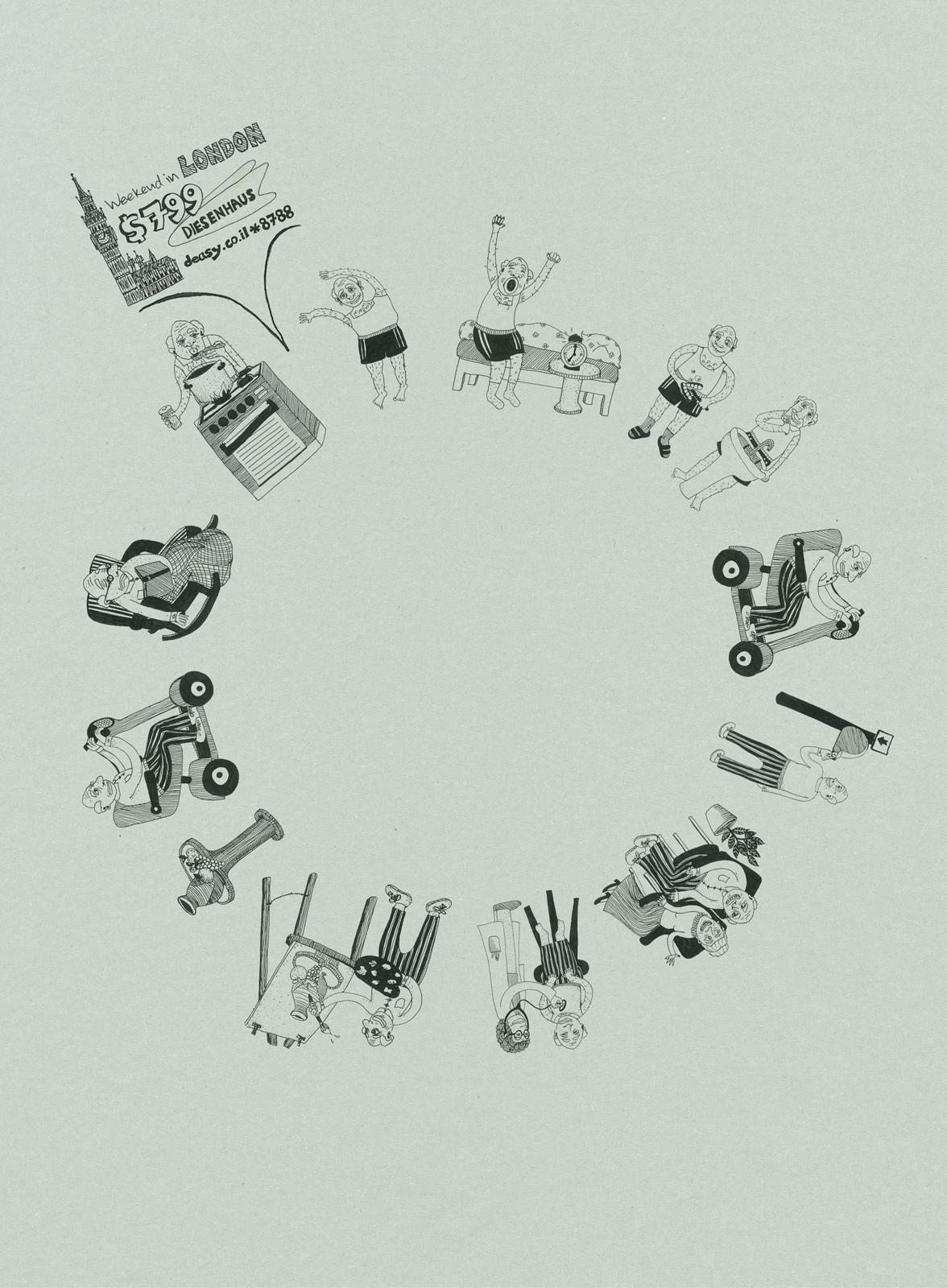 Diesenhaus Circule Print Ad -  Grandpa