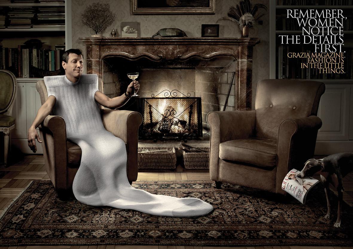 Grazia Print Ad -  Sock