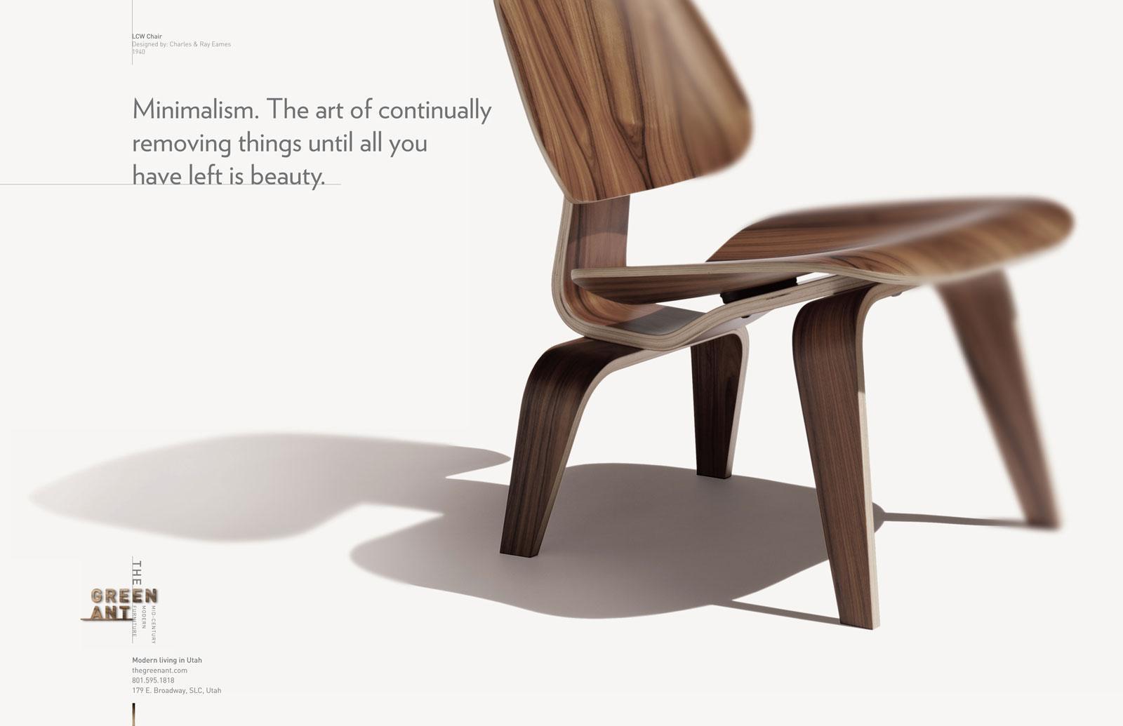 The Green Ant Print Ad -  Minimalism