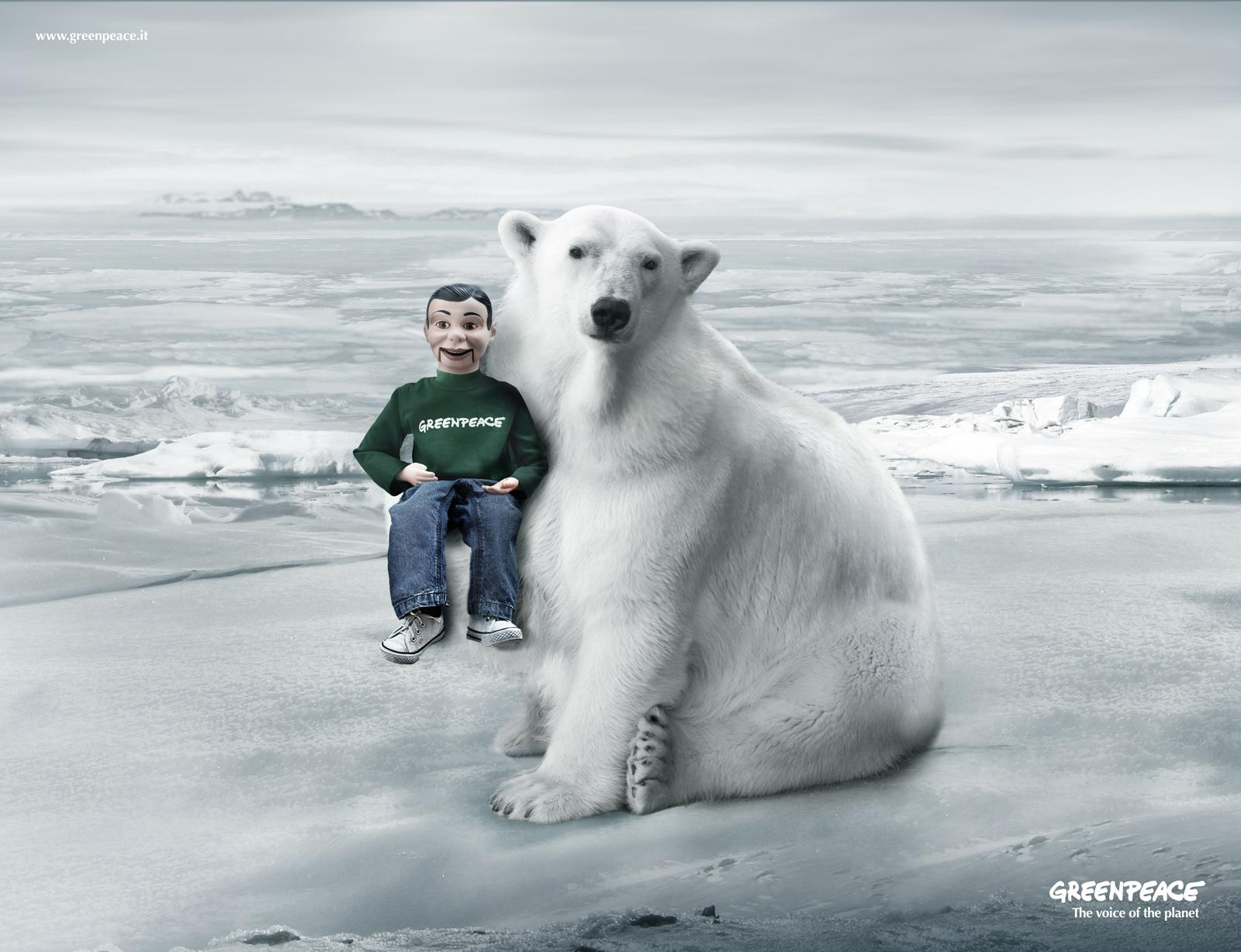 Greenpeace Print Ad -  The voice of the planet