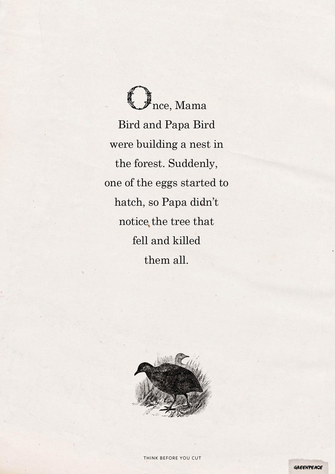 Greenpeace Print Ad -  Birds