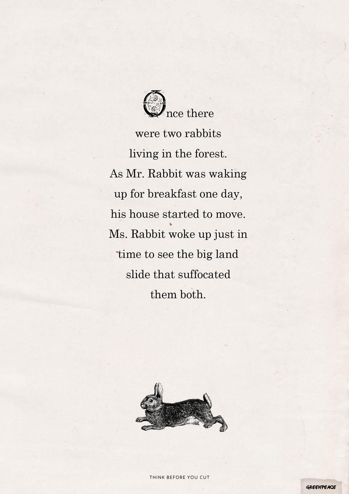 Greenpeace Print Ad -  Rabbits