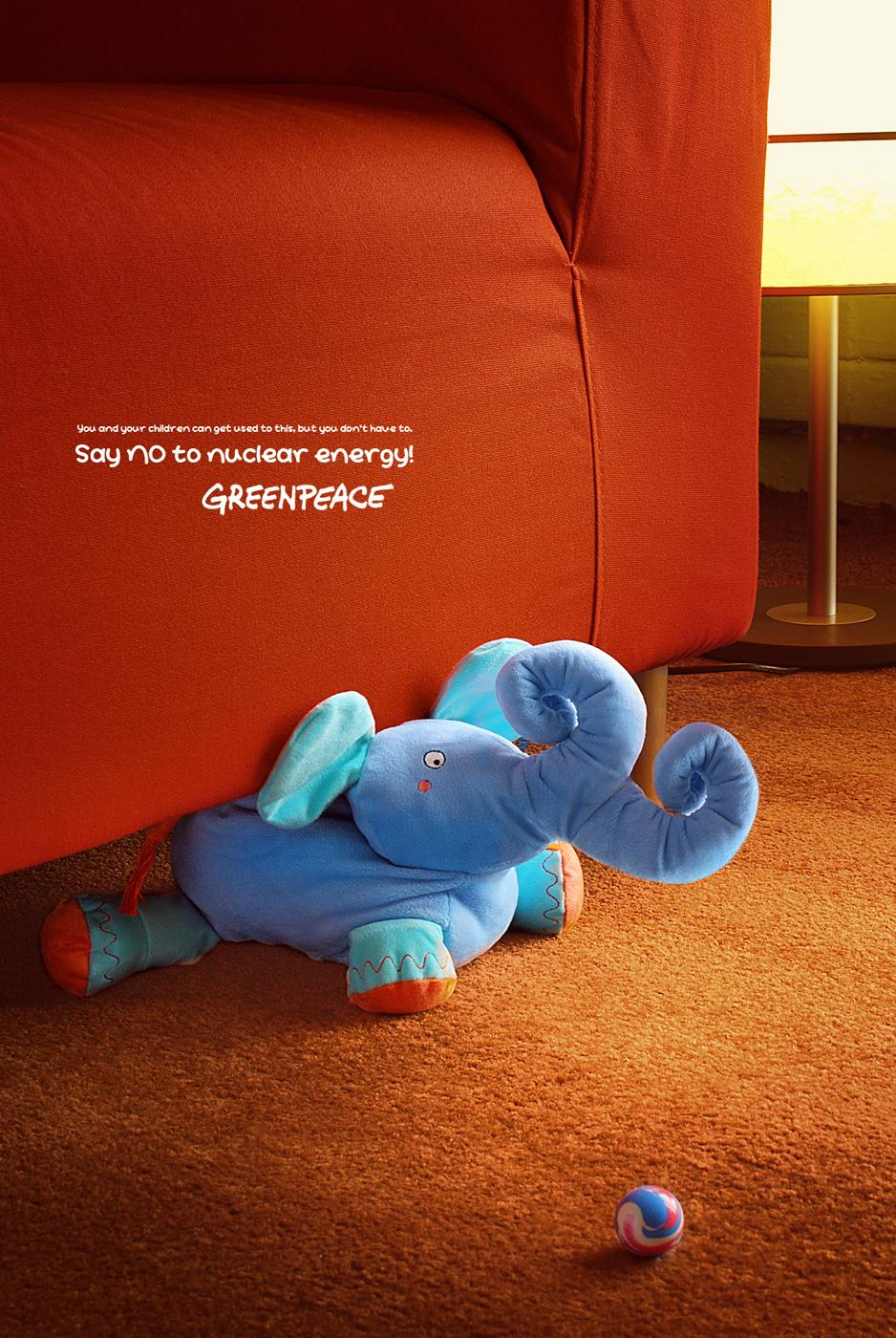 Greenpeace Print Ad -  Elephant