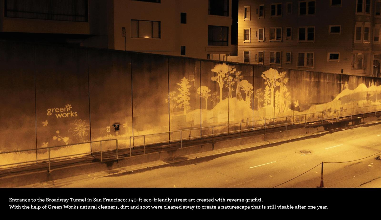 Green Works Ambient Ad -  Reverse graffiti