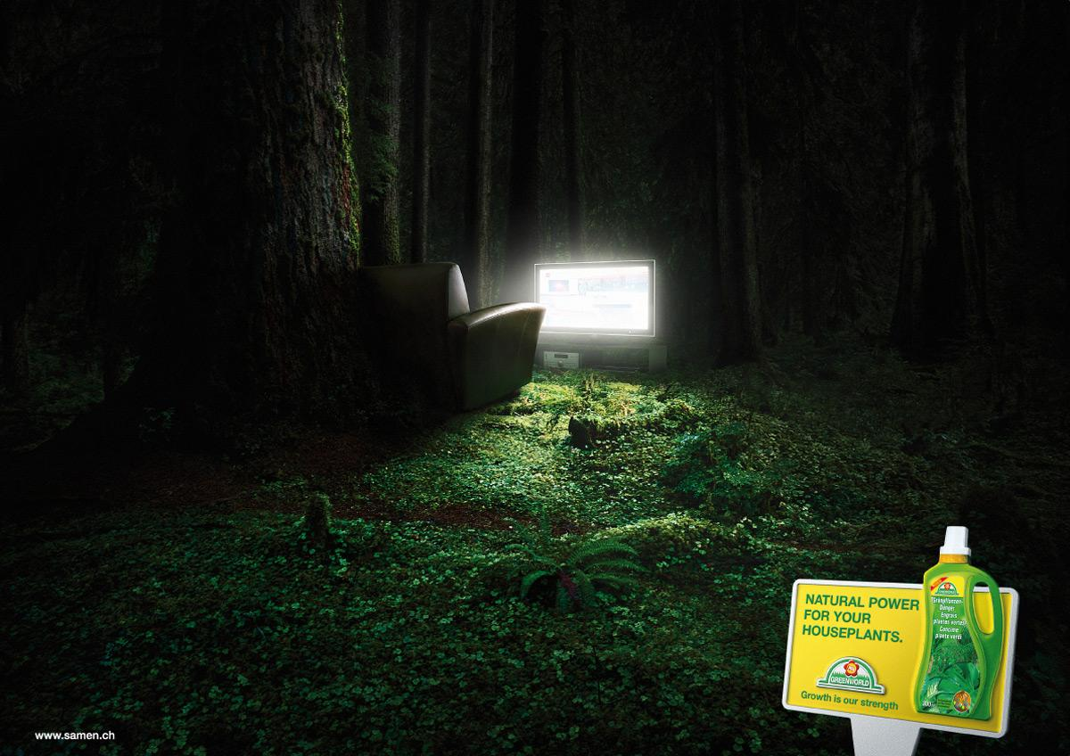 Greenworld Print Ad -  TV