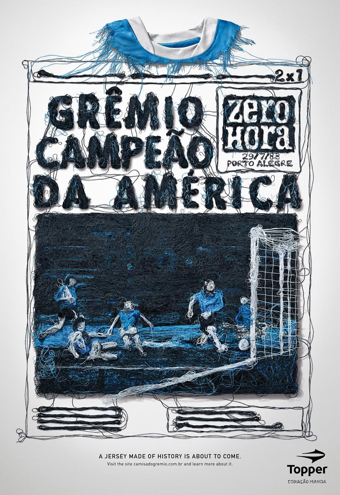 Topper Print Ad -  Campeao da América