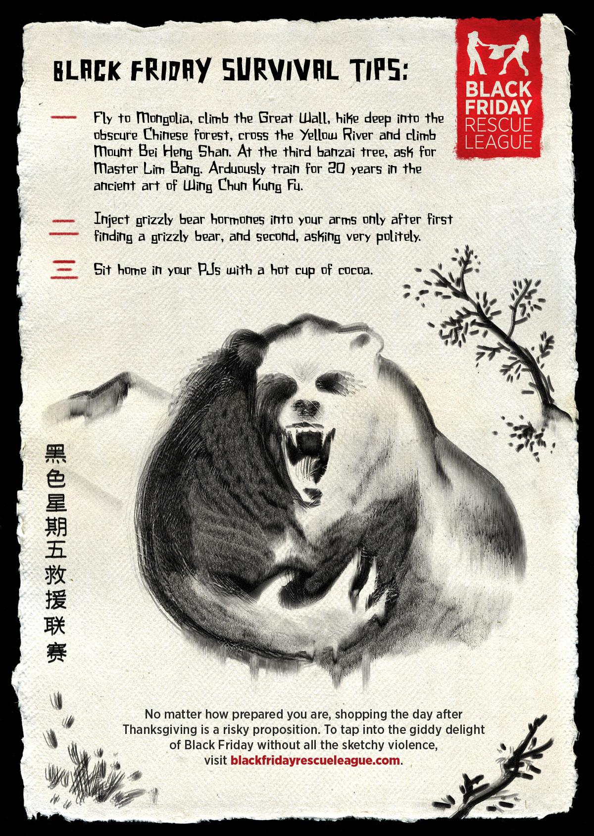 Black Friday Rescue League Print Ad -  Grizzly