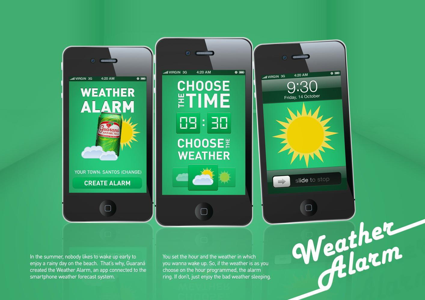 Guarana Antarctica Digital Ad -  Weather Alarm