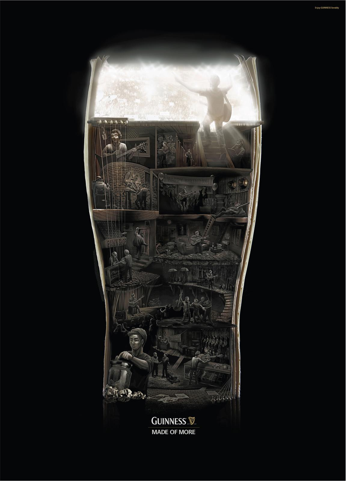 Guinness Print Ad -  Rock to the top