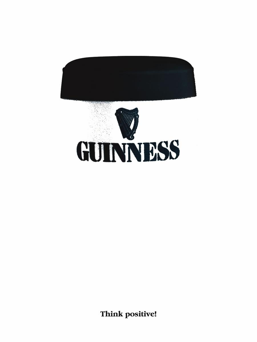 Guinness think positive