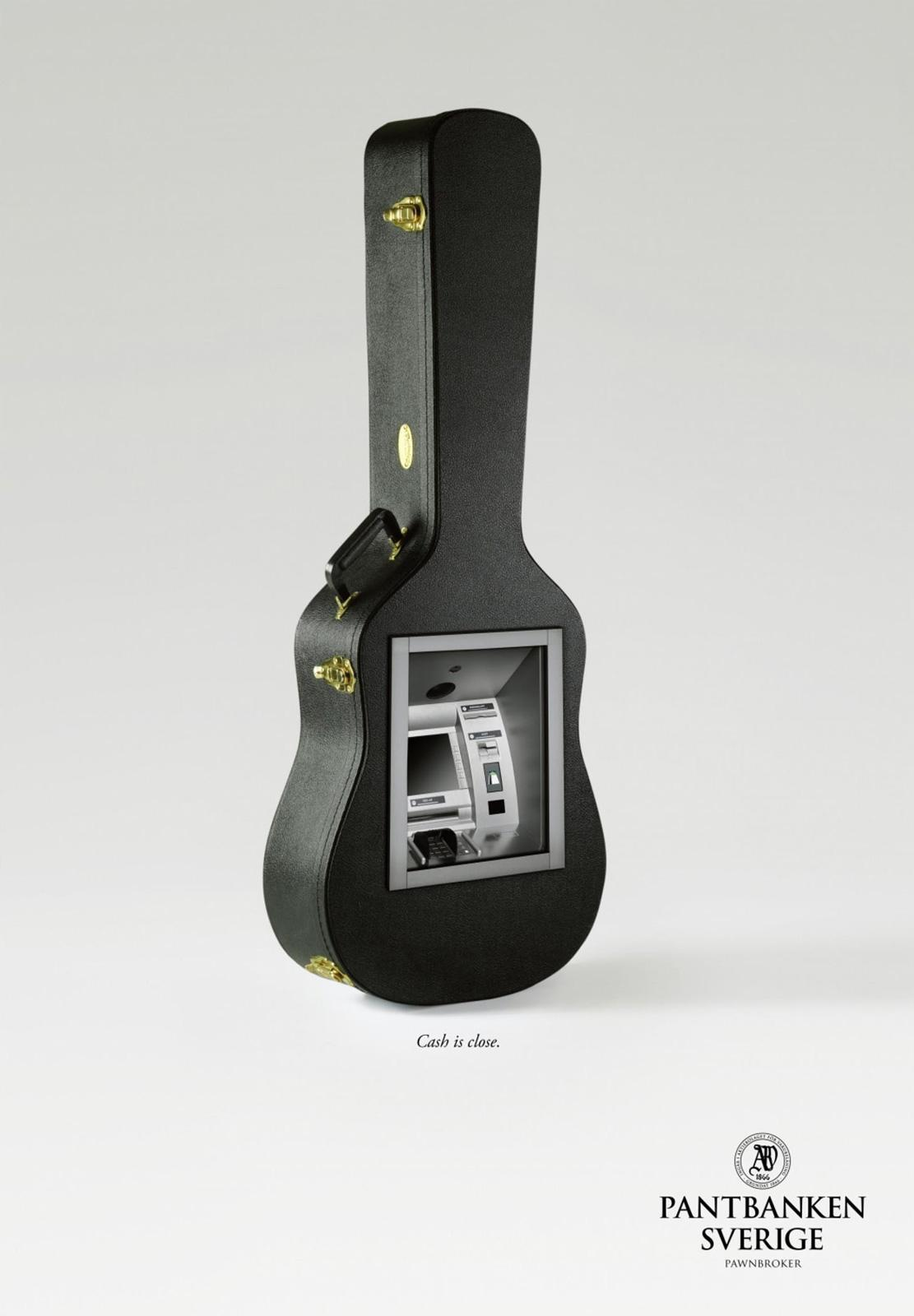 Svenska Pantbanken Print Ad -  Guitar Case