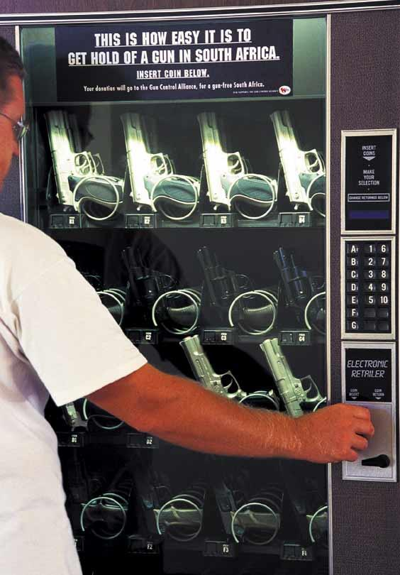 Gun-free South Africa Ambient Ad -  Vending machine