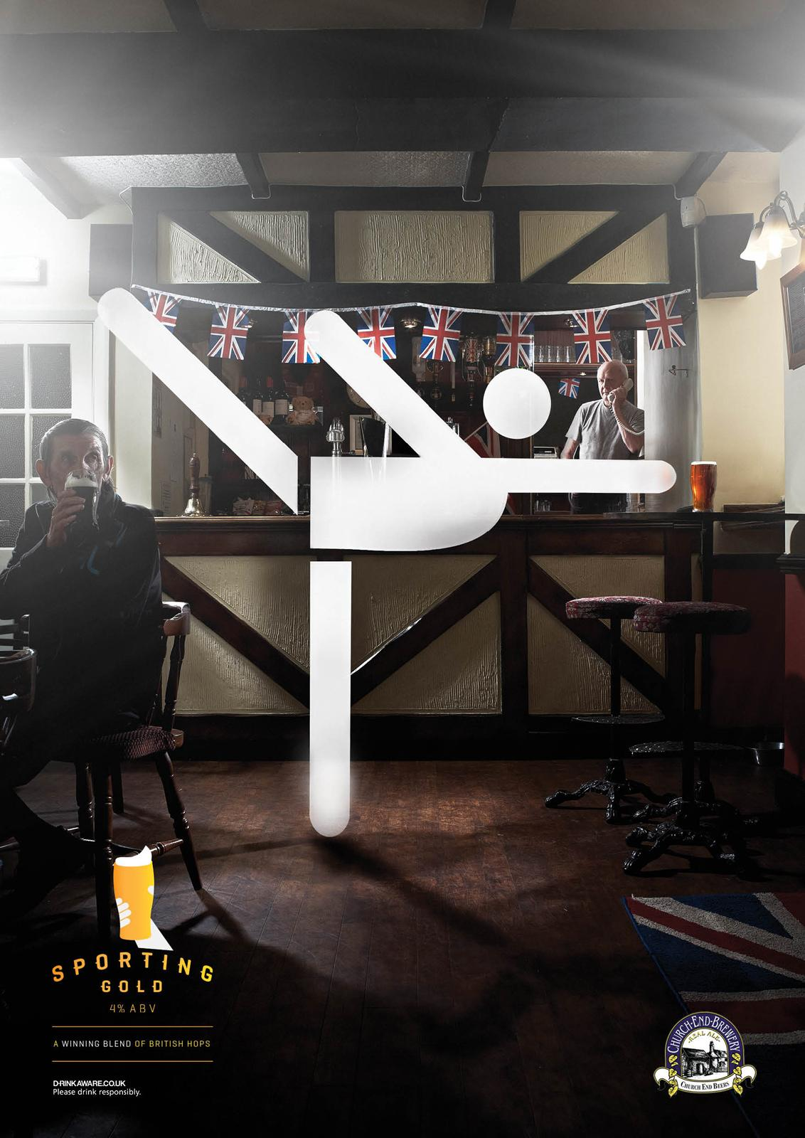 Church End Print Ad -  Go for Sporting Gold, Gymnast