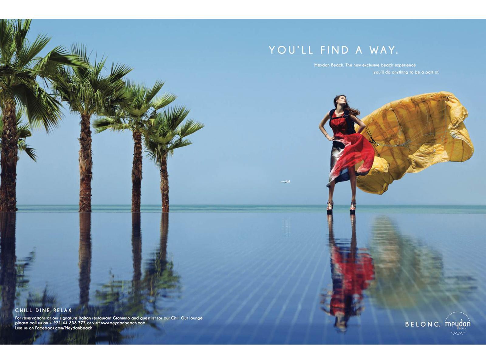 Meydan Beach Print Ad -  You'll find a way, 1