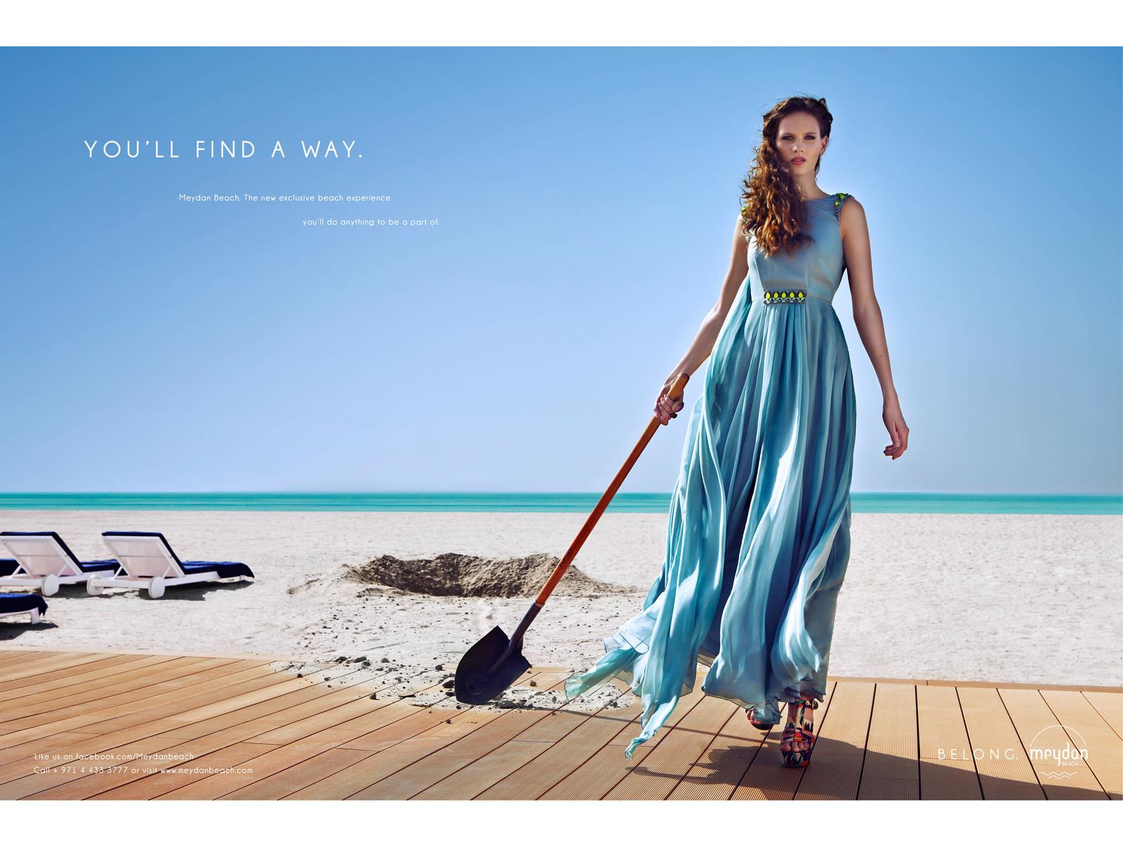 Meydan Beach Print Ad -  You'll find a way, 2