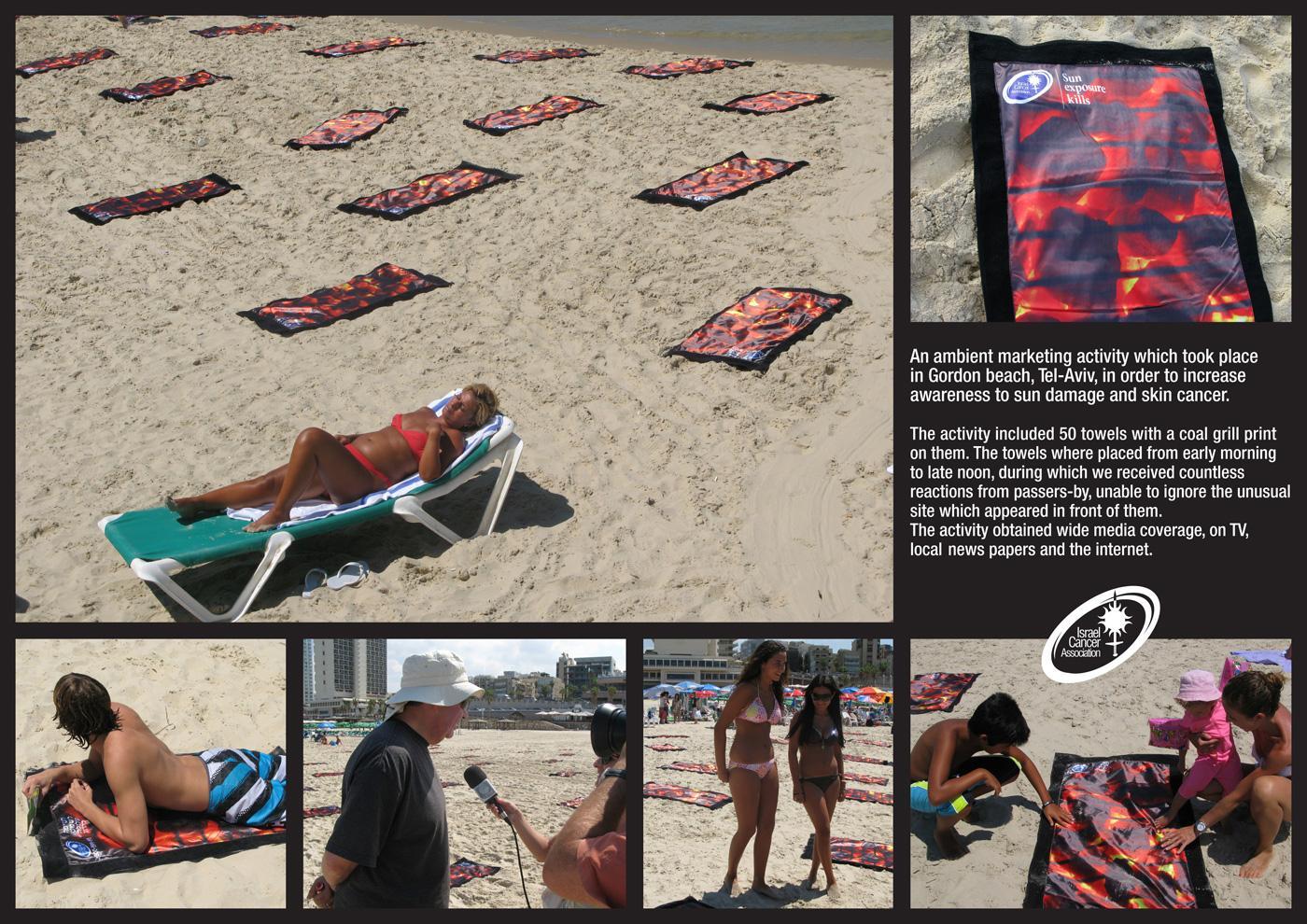 Israel Cancer Association Print Ad -  Grill towels
