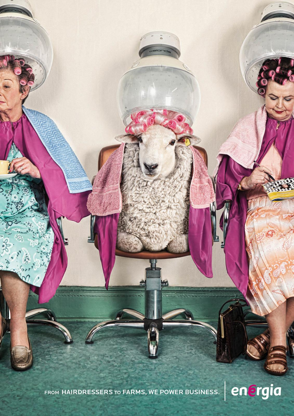 Energia Print Ad -  Hairdressers to farms