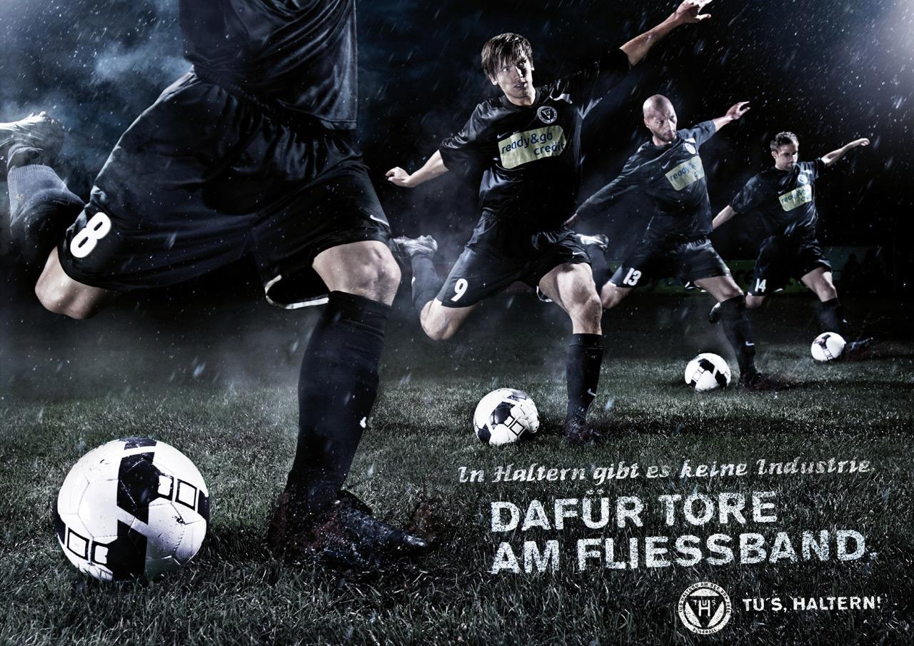 TUS Haltern Print Ad -  Goal machine