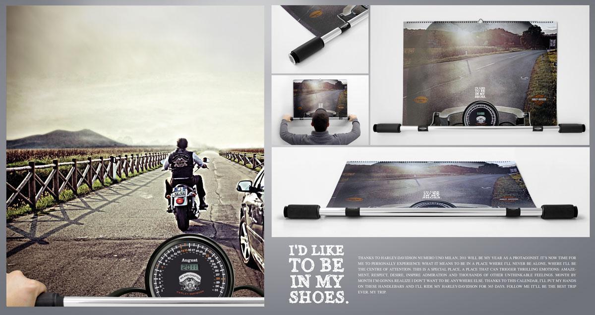 Harley-Davidson Direct Ad -  Handlebars Calendar 2010