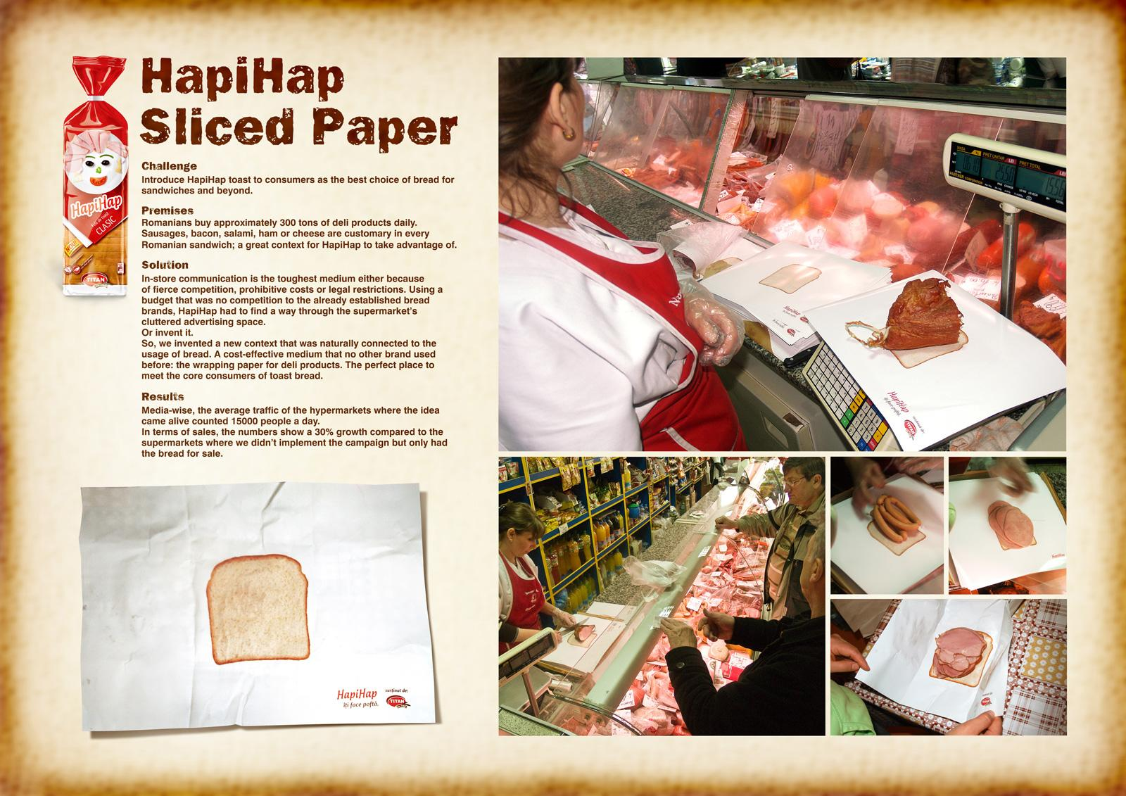 HapiHap Direct Ad -  Sliced Paper