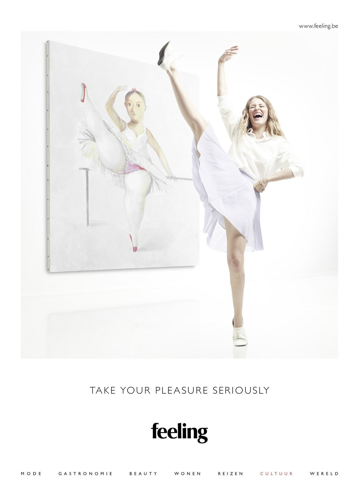Feeling Print Ad -  Take Your Pleasure Seriously, Culture